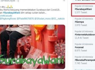 Tagar Surabaya Wani, Dukungan Bagi Risma Terus Mengalir