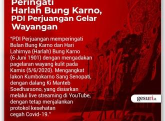 Peringati Harlah Bung Karno, PDI Perjuangan Gelar Wayangan