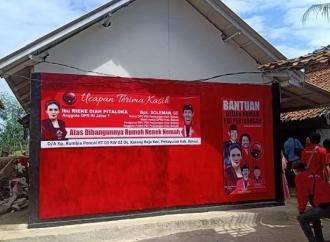 PDI Perjuangan & Rieke Diah Resmikan Bedah Rumah Nenek Nemah