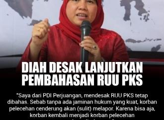 Diah Pitaloka Desak untuk Lanjutkan Pembahasan RUU PKS