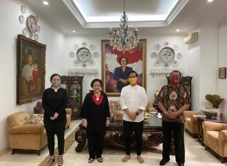 Megawati Terima Gibran dan Wali Kota Solo Rudy di Teuku Umar