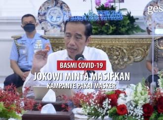Presiden Jokowi Minta Masifkan Kampanye Pakai Masker