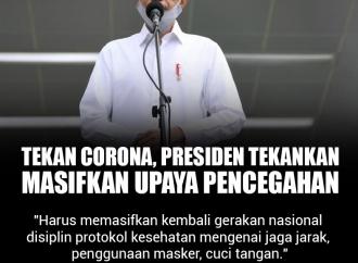 Tekan Corona, Presiden Jokowi Tekankan Upaya Pencegahan