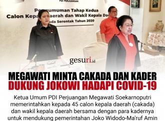 Megawati Minta Cakada & Kader Dukung Jokowi Hadapi Covid-19