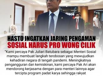 Hasto Ingatkan Jaring Pengaman Harus Pro Wong Cilik