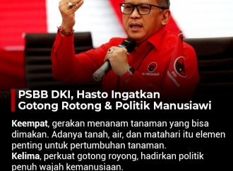 PSBB DKI, Hasto Ingatkan Gotong Royong dan Politik Manusiawi