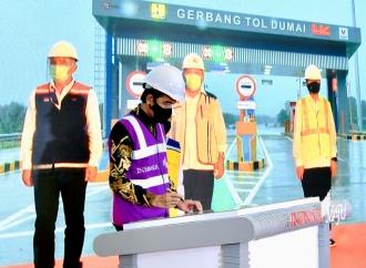Secara Virtual, Presiden Resmikan Jalan Tol Pekanbaru-Dumai