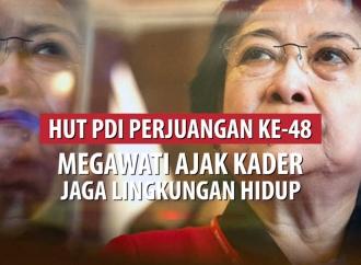 HUT PDI Perjuangan, Megawati Ajak Kader Jaga Lingkungan