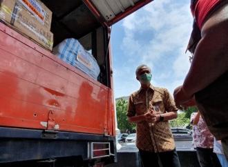 Ganjar Berangkatkan Sukarelawan & Logistik ke Sulawesi Barat