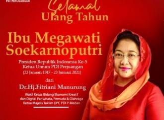 HUT Megawati, Tetaplah Jadi Ibu Buat Kader dan Anak Negeri