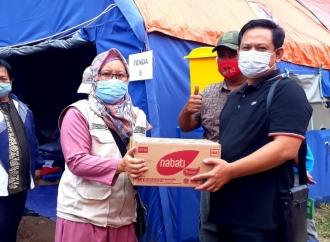Abdy Yuhana Beri Bantuan ke Korban Longsor Sumedang