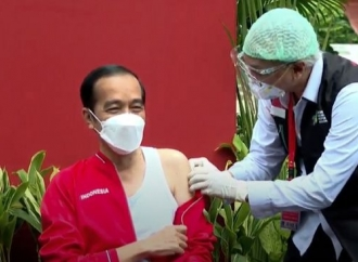 Presiden Jokowi Terima Suntikan Kedua Vaksinasi COVID-19
