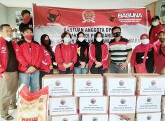 Banteng Jabar Salurkan Bantuan ke Korban Banjir di Cirebon