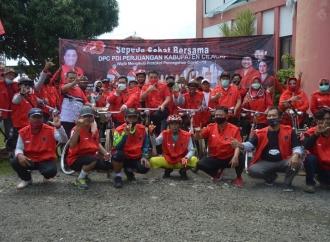 Dorong Hidup Sehat, PDI Perjuangan Cilacap Gowes Bareng