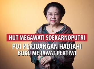 HUT Megawati, PDI Perjuangan Hadiahi Buku 'Merawat Pertiwi'
