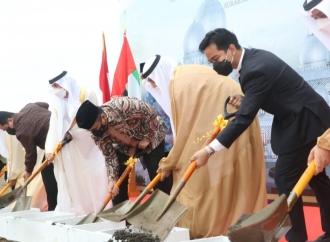 """Gibran """"Ground Breaking"""" Pembangunan Masjid Syaikh Zayed"""