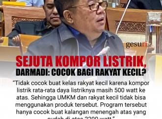 Sejuta Kompor Listrik, Darmadi: Cocok Bagi Rakyat Kecil?