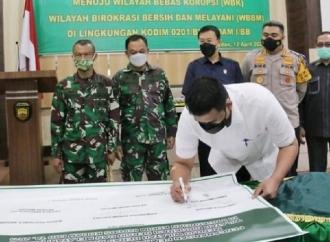 Bobby Dukung Pencanangan Zona Bebas Korupsi di Tubuh TNI