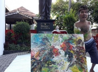 Ngabuburit, Pelukis Difabel Ramaikan AKARA Banteng Yogya