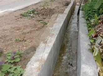 Banteng Somambawa Soroti Proyek Pekerjaan Parit Asal Jadi