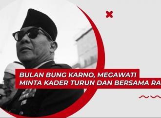 Bulan Bung Karno, Megawati Minta Kader Turun Bersama Rakyat