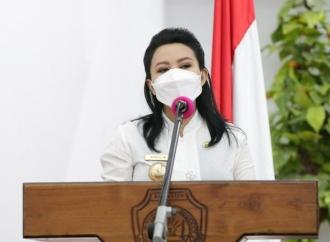 Bupati Karolin Lepas Kontingen PON XX Papua 2021