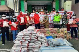 Baguna Salurkan Bantuan ke Korban Gempa di Bali