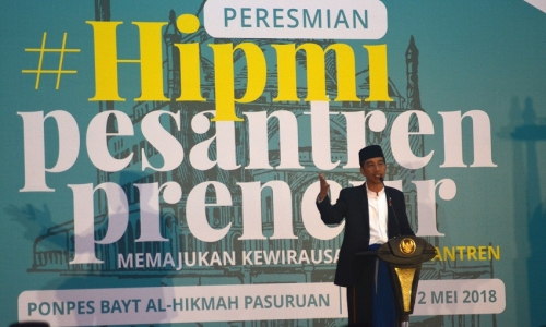 Presiden Resmikan Wira Usaha Pondok Pesantren di Jatim