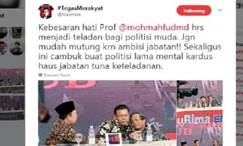 """Masinton: Mahfud MD Jadi Teladan dan """"Cambuk"""" bagi Politisi"""