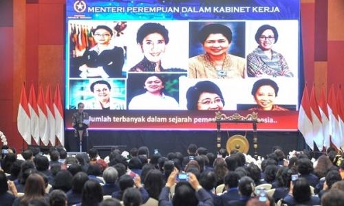 Ke WKRI, Jokowi Yakini Kehebatan Perempuan Indonesia