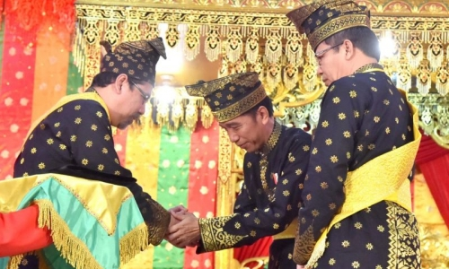 Presiden Silaturahim dengan Paguyupan Pujakesuma Riau