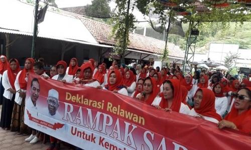 Rampak Sarinah Deklarasi Dukung Jokowi-KH. Ma'ruf Amin