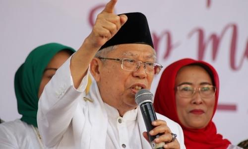 Ma'ruf Amin Bantah Lakukan Kampanye di Posko Pengungsian