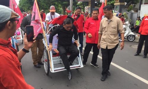 Paguyuban Becak Banyuwangi Siap Dukung Jokowi