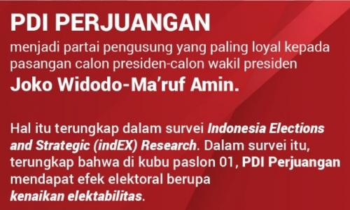 PDI Perjuangan Paling Loyal pada Jokowi