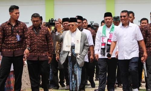 Kiai Ma'ruf Konsolidasi ke Ponpes An Nawawi Tanara Serang
