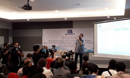 Survei Indo Barometer: Elektabilitas Jokowi Ungguli Prabowo