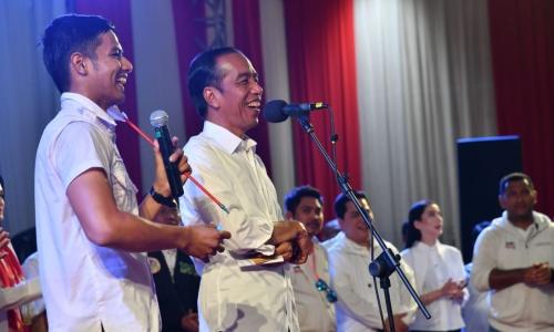 Kampanye di Palangkaraya, Capres #01 Jokowi: Kota yang Aman