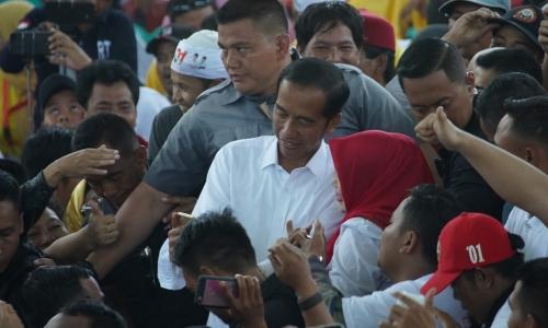 Keseruan Kampanye Jokowi di Depok Jabar