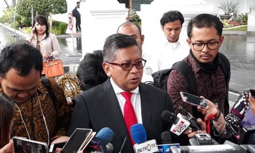 Bersama Jokowi, Hasto Ngobrol Soal Pemilu 2019