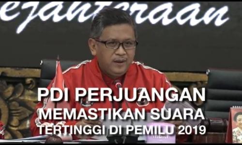 PDI Perjuangan Raih Suara Tertinggi di Pemilu 2019