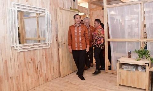 Jokowi Dorong Mebel & Produk Kayu Manfaatkan Peluang Eskpor
