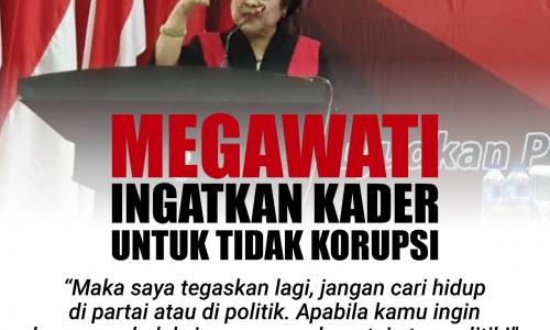 Megawati Ingatkan Kader untuk Tidak Korupsi