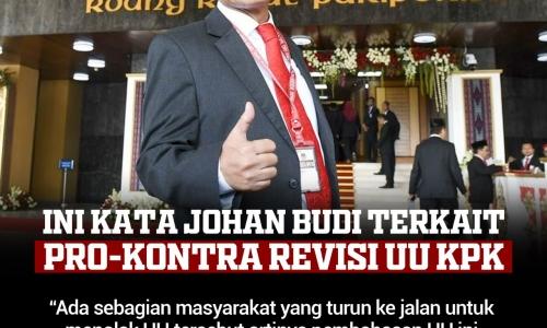 Ini Kata Johan Budi Terkait Pro-Kontra Revisi UU KPK