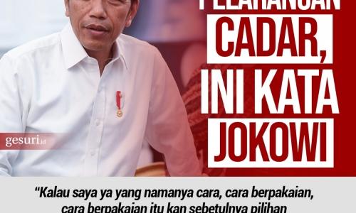 Soal Wacana Pelarangan Cadar, Ini Kata Jokowi
