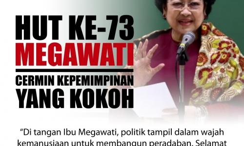Ulang Tahun ke-73 Megawati, Cermin Kepemimpinan yang Kokoh