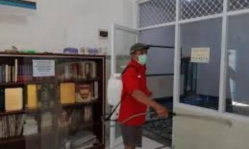 Tiga Lokasi Ini PDI Perjuangan Jakpus Semprot Disinfektan