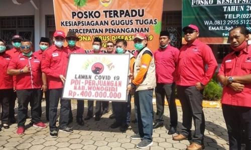 PDI Perjuangan Wonogiri Gelontorkan Rp 400 Juta Lawan Covid