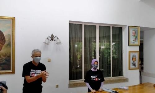 Atasi Masker Langka, Ganjar-Atikoh Bikin Masker Sendiri
