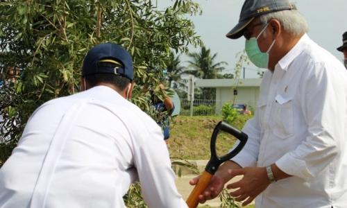 Basuki Tanam 6.600 Bibit Pohon di Sepanjang Tol Trans Sumate